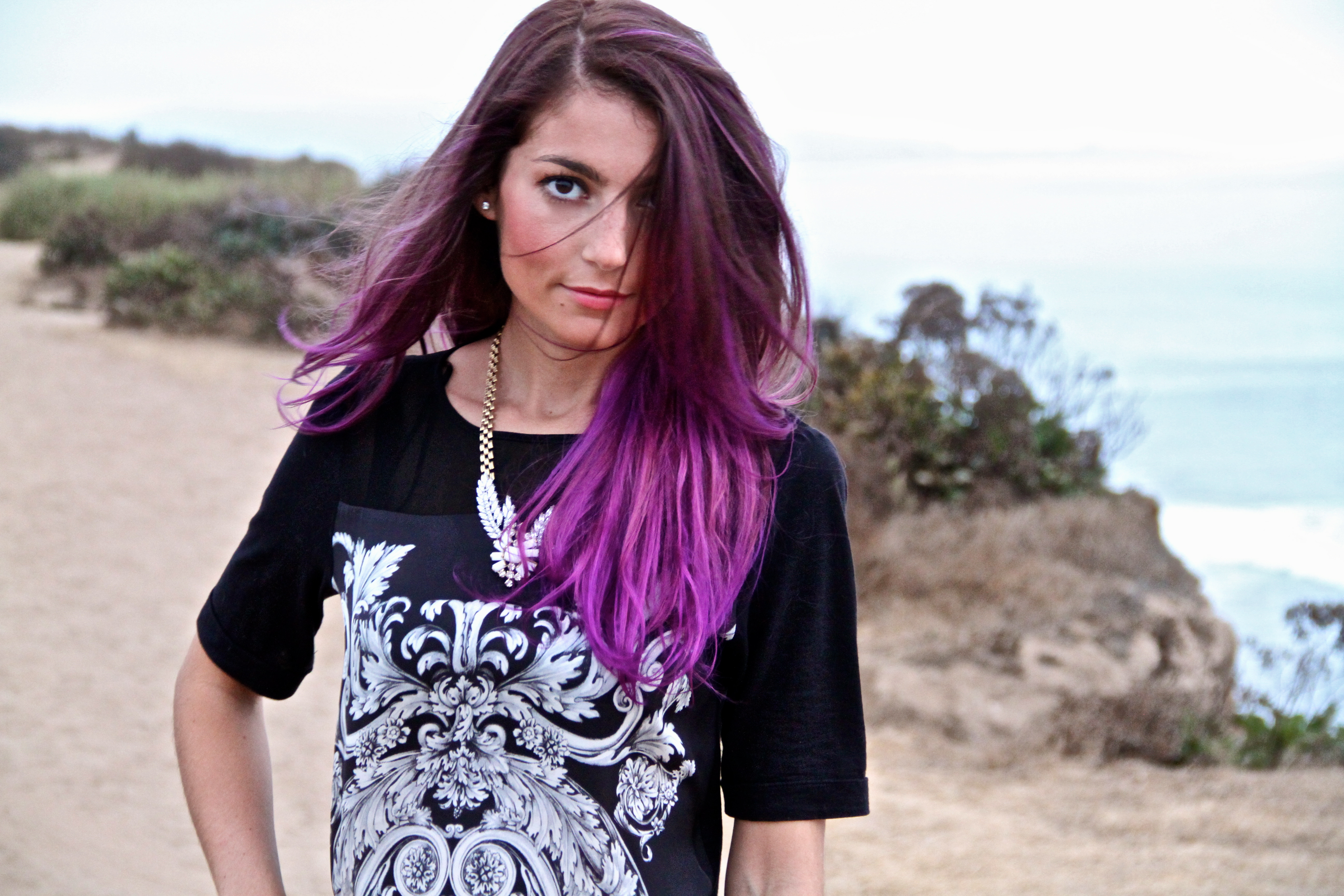 Red Purple Ombre Hair Joffe purple ombre hair