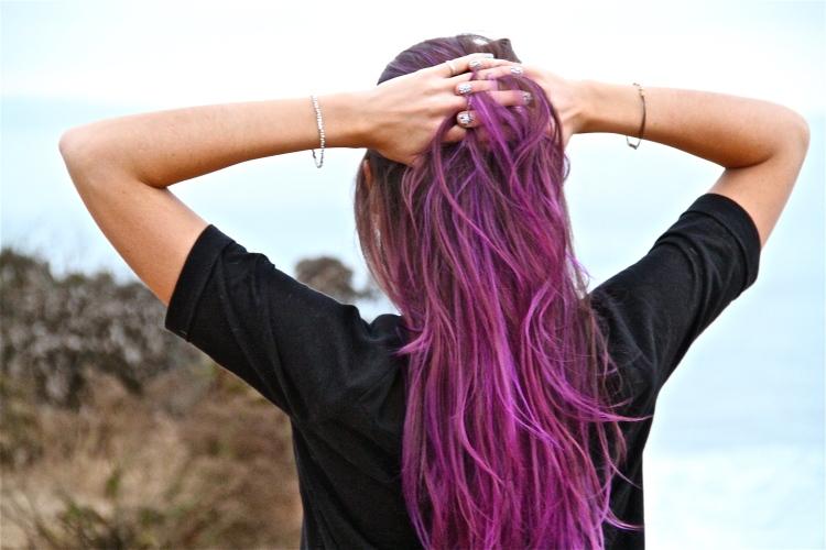 Jilli Joffe Purple Ombre Hair