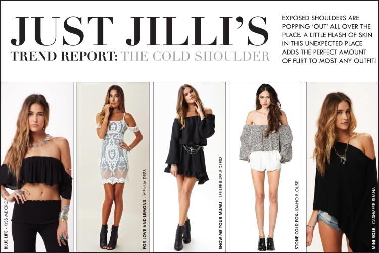 Trend Forecast, Trend Analysis, Fashion Trends, Cold Shoulder Trend, Exposed Shoulder, Off Shoulder, Fashion Trends