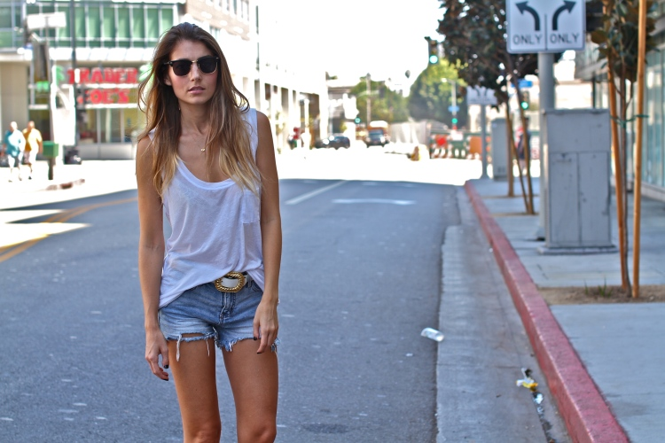 Weekend Outfit, Denim Shorts White Top, Outfit Ideas