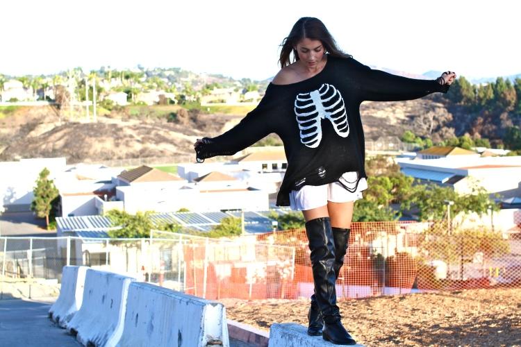 Women's Fashion, Fall fashion 2014, fall 2014 fashion trends, fashion blogger, fashion trends, wildfox sweater, skeleton sweater, halloween 2014, sexy skeleton