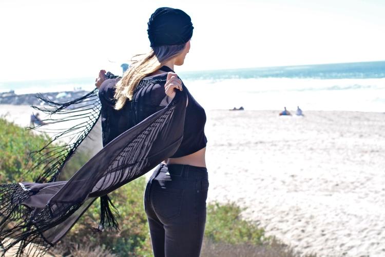 UNIF Wiccan Kimono, Kimono Fashion, Kristin Perry, Turban, UNIF denim, UNIF