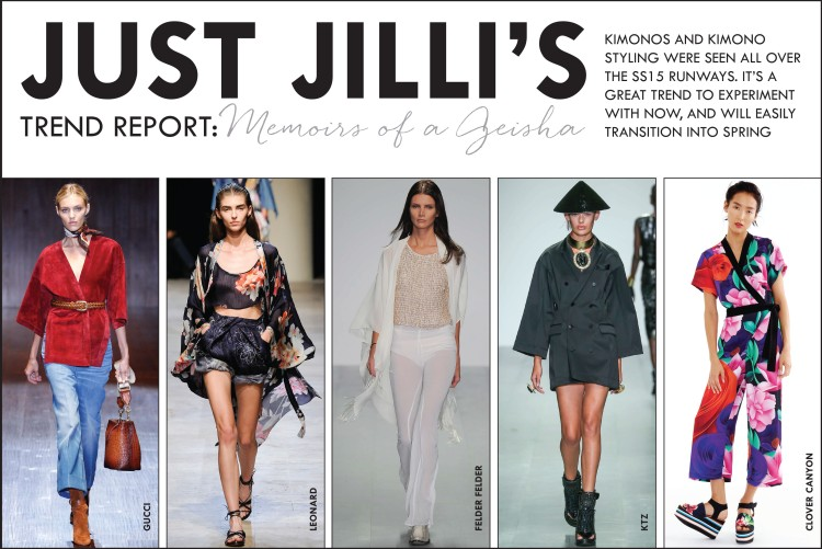 SS15 runway trends, kimono trend, fall 2014 fashion trends,